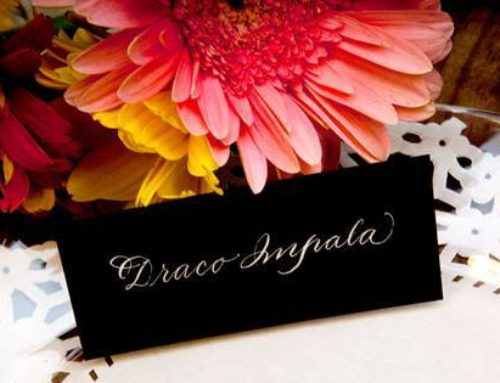 Black on White Place Cards