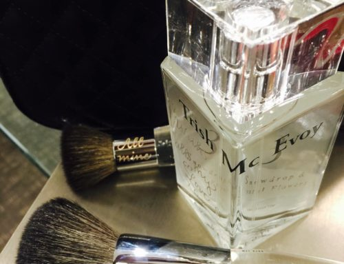 Trish McEvoy Engraved Brushes and Perfume Bottle